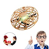 SUNFATT Drone for Kids,UFO Toy,Flying Drone for Kids Hand Controlled with LED Light 360° Rotating Helicopter for Boys Girls Birthday Gifts.