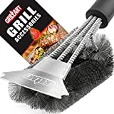 Grillart Extra Strong Handle & Safe Triple Bristles Grill Cleaning Brush