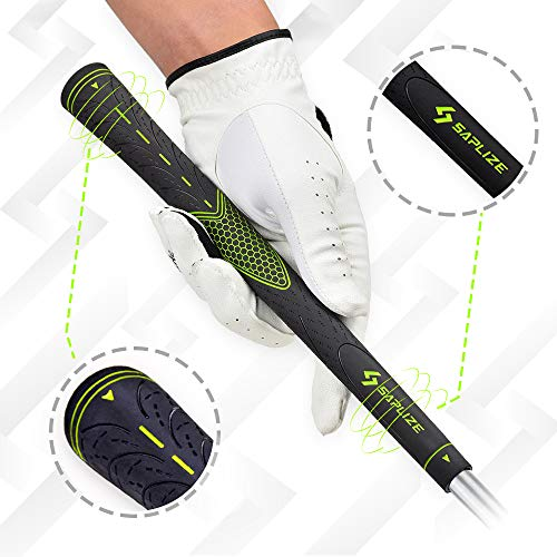Product Image 2: SAPLIZE Golf Grips Set of 13 with Complete Regripping Kit, Midsize, Rubber Golf Club Grips, Green CC01S Series