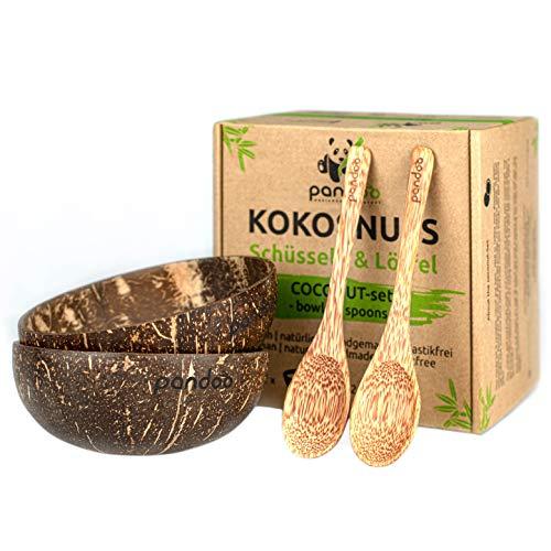 Kokosnuss Schalen 2er Set - 100% Naturprodukt - Handmade