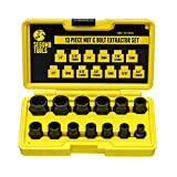 Segomo Tools 13 Piece Lug Nut and Bolt Extractor Removal Metric and SAE Socket Tool Set 8 - 19mm