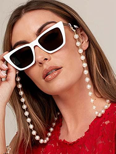 Bohend Mode Chaîne de lunettes de soleil perle Chaîne de masque facial...