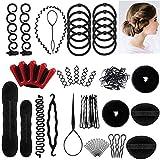 25pcs Haare Frisuren Set,Haar Zubehör styling set,Hair Styling Accessories Kit Set Haar Styling Werkzeug, Mädchen Magic Haar Clip Styling Pads Schaum Hair Styling tools für DIY