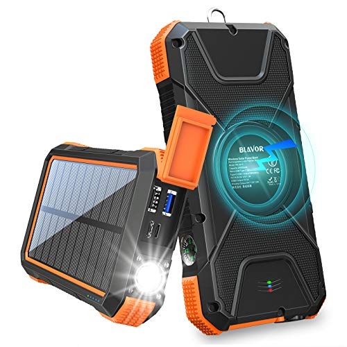 Wireless Solar Power Bank 18W 20000mAh