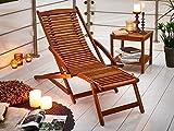SAM Gartenliege Fuki Sonnenliege für Balkon & Garten, Deckchair klappbar, Akazien-Holz massiv, FSC 100% Zertifiziert - 2