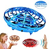TMANGO UFO Hand-Controlled Drones Toys, Updated 5 Infrared Sensors & 2-Speed Interactive Flying Toys with 360Rotating & LED Lights Helicopter for Kids, Boys & Girls