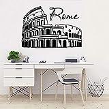 WERWN Pegatinas de Pared de Arquitectura Romana clásica, Ventana, Vidrio Decorativo, Arte, Mural, Dormitorio, Sala de Estar