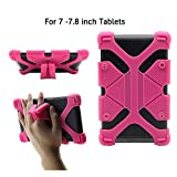 CHINFAI Universal 7 inch Tablet Case Shockproof Silicone Stand Cover for All Versions RCA Voyager Vankyo Yuntab Samsung Google Nexus MatrixPad Z1 Huawei 7' Android Tablet and More, Rose