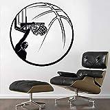 wZUN Dunker calcomanías Baloncesto Deportes hogar Sala de Estar decoración Dentro de la Canasta extraíble 85X85cm