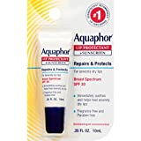 Aquaphor Lip Protectant and Sunscreen Ointment - Broad Spectrum SPF 30 - Relieves Chapped Lips, Ointment, Fragrance Free, 0.35 Fl Oz