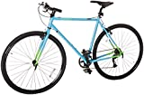 Retrospec Bicycles AMOK V2 CycloCross Nine-Speed/Commuter Bike with Chromoly Frame, Hi-Vis Blue, 50cm/Small