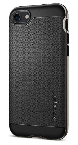【Spigen】 iPhone 7 ケース, ネオ・ハイブリッド  米軍MIL規格取得 二重構造 バンパー  アイフォン 7 用 カバー (iPhone7, ガンメタル)