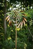 TS Gardendeco Windspiel Feder Iron, pulverbeschichtet und handpainted, bronze, 59 x 26 x 214 cm, 134397 - 3