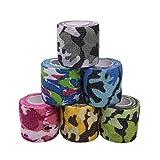 Houdao 6 rouleaux de bandes auto-adhésives bandages pour animaux...