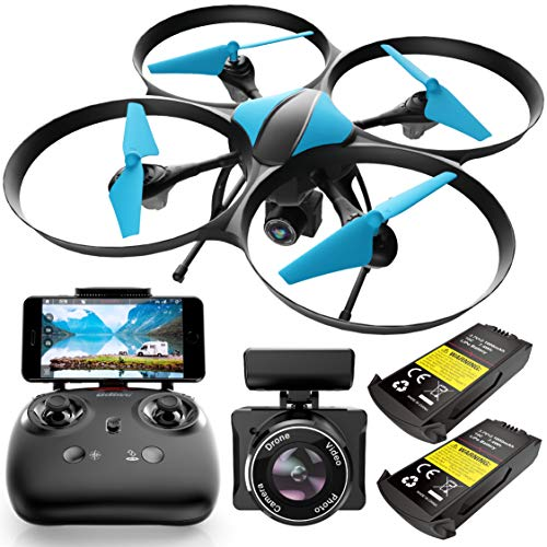 Force1 U49WF FPV Drone with Camera for Adults - VR Headset Compatible WiFi Quadcopter RTF Remote Control Flying Drone with 720p HD Drone Camera, Altitude Hold, Headless Mode, and 2 Drone Batteries
