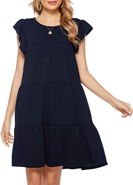 navyblue simple dress