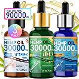 TOPNaturePlus 30000MG Hemp Oil for Pain Relief, Stress, Anxiety and Sleep- 3 Pack Hemp Oil Drops
