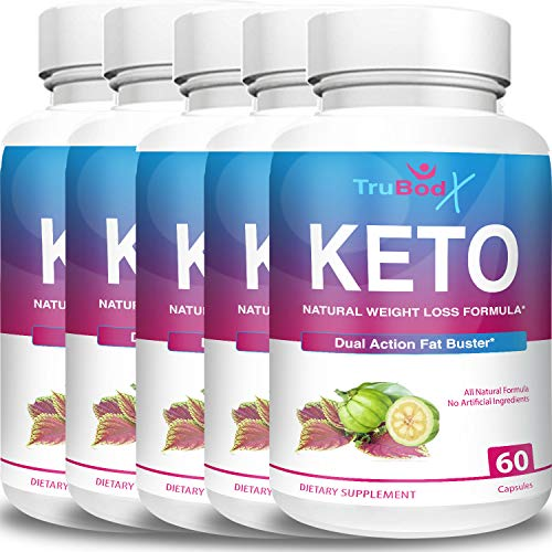 TruBodX Keto Diet Pills - Burn Fat for Energy Not Carbs - Boost BHB Ketosis Ketones - Burn Stubborn Fat - Increase Energy & Focus Supplement (5 Month Supply) 1