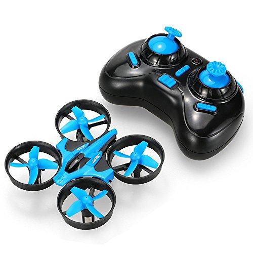 JJRC Mini Quadcopter Drone con telecomando per principianti (H36) per unisex bambino Blu