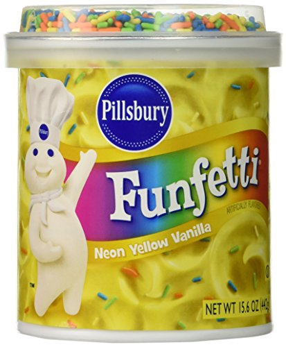 Pillsbury Funfetti Neon Yellow Flavored, Vanilla, 15.6 Ounce