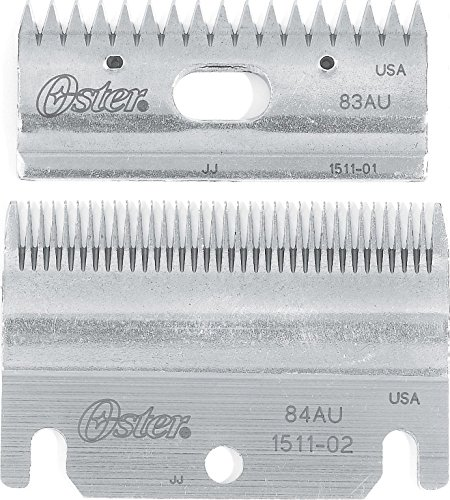Oster Clipmaster Top and Bottom Clipper Blade Set, 83AU and 84AU (078511-126-001)
