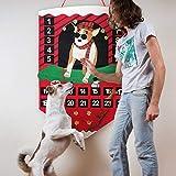 O-heart Pet Dog Advent Calendar 2019, Felt Christmas Treats Advent Calendar with Pockets 24 Days Wall Hanging Countdown to Christmas Decorations for Dogs
