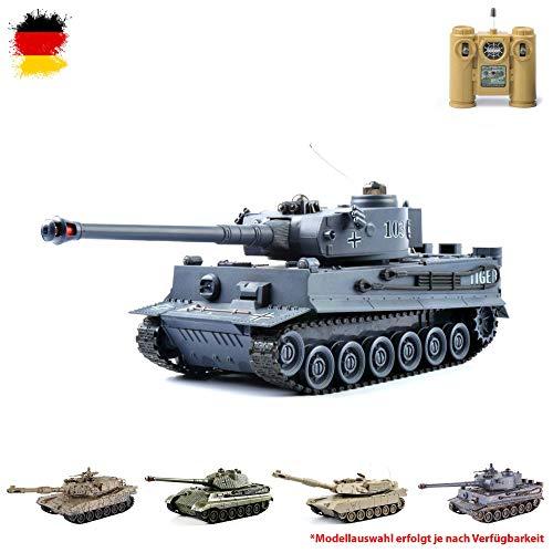 2.4GHz RC ferngesteuerter Kampfpanzer IR Battle Militär-Panzer Tank mit Gefecht- und Schusssimulation,Sound und Licht, Komplett-Set