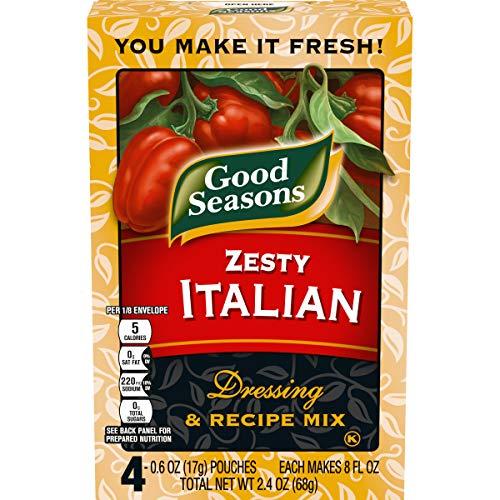 Good Seasons Zesty Italian Salad Dressing & Recipe Mix (0.6 oz Envelopes, Pack of 4)