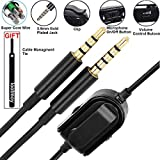A10 A40 Replacement Cable Inline Mute Volume Control with Clip for Astro Gaming Headset A10/A40 Cord Lead Compatible with Xbox One Play Station 4 PS4 Headphone Audio Extension Cable 6.5 Feet