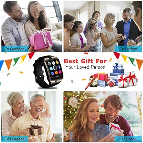 Mahipey Smart Watch,Smartwatch for Android Phones,Smart Watches Touchscreen with Camera Bluetooth Watch Cell Phone with Sim Card Slot Compatible Samsung Ios Phone 12 12 Pro 11 10 Men Women 14