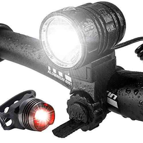 Luz Bicicleta, Kit de Luces LED Delanteras y Traseras de Bicicleta...