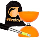 Orange Big Top - Jumbo Bearing Diabolos Set, Ali Dream Metal Diablo Sticks, Diabolo String & Firetoys Bag