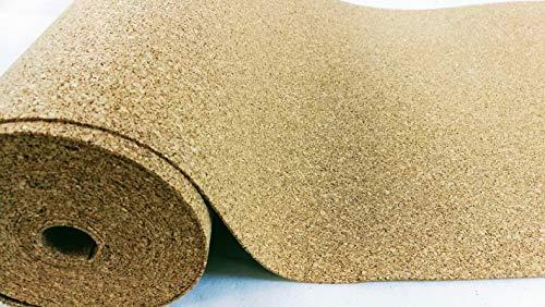VersaCork Rotolo di sughero, spessore 4 mm, 5 mq (5 x 1 m), tappetino isolante, pavimenti in...