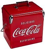 Koolatron Coca-Cola 18 Can Portable Vintage Ice Chest with Bottle Opener (14 Quarts/13 Liters)
