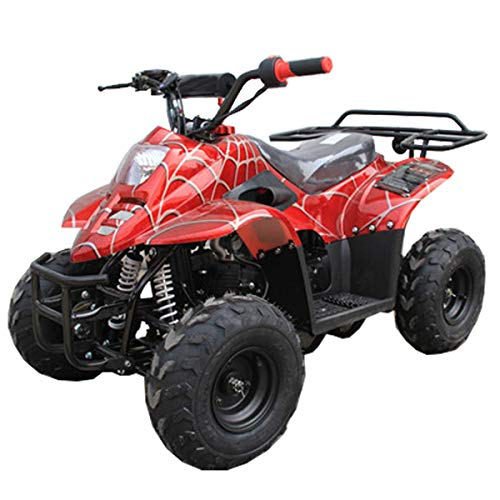 X-PRO 110cc ATV Quads Youth ATV Kids Quad ATVs 4 Wheeler (Spider Red)
