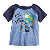 Jumping Beans Toddler Boys 2T-5T Dr Seuss Oh The Places Graphic Tee 2T Royal Snow Heather