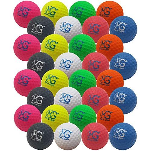 Product Image 1: Macro Giant 1.7 Inch Foam Golf Ball, Set of 32, 8 Colors, Indoor Outdoor, Beginner, Training Practice
