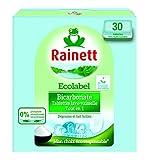 Rainett Tablettes lave-vaisselle tout en 1 au bicarbonate - La boîte de 30, 600g