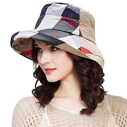 DOCILA Womens Summer Floppy Hats Stylish Bucket Rain Cap Water Resistant Fishing Hat (Beige)