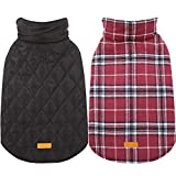 To better fit your dog,please do measure the size of your dog and compare to the size chart before placing order. Material:Filler: Polyester fiber. Material: Polyester+TC (terylene/cotton), Water Resistant Outer layer/ Soft and Warm Inner Layer Desig...