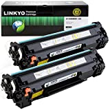 LINKYO Compatible Toner Cartridge Replacement for Canon 125 3484B001AA (Black, 2-Pack)