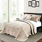 Home Soft Things Supersoft Bedspread & Coverlet Set, 120' x 120', Taupe