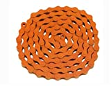 Lowrider KMC Chain 1/2x1/8x112 Orange. for Bicycle Chain, Bike Chain, Bikes, Beach Cruiser, Chopper, limos, Stretch, BMX, Track Fixie Bicycles