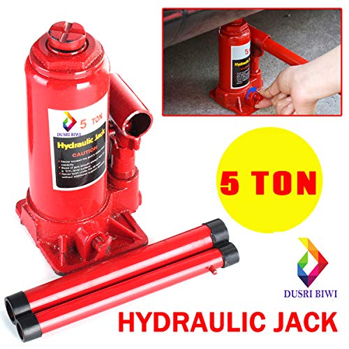 DUSRI BIWI™ Universal 5 Ton Jack Jack Hydraulic Support Iron Bracket Car Truck Repair Tool(RED,BLUE,BLACK)