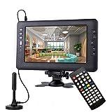 9 Pouces (22,86 cm) TV numérique DVB-T2, Batterie Rechargeable TV...