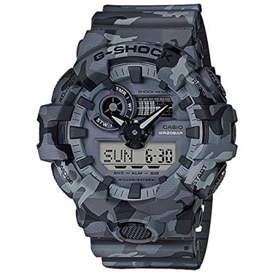 Casio G-Shock Men's GA700CM-8A Gray/Camo One Size