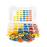 DND Tabletop RPG Spell and Condition Markers - Set of 132 Rings Track Status of 33 Spells & Effects for Miniatures in Dungeons and Dragons & Pathfinder Roleplaying Games Color Coded Tokens