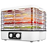 Aicok Food Dehydrator, 5-Tray Food Dehydrator Machine with Extensible Capacity for Jerky, Meat, Fruit, Dog Treats, Herbs, Vegetable, Temperature Control, BPA Free
