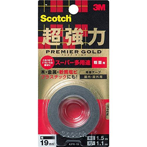 3Mスコッチ超強力両面テーププレミアゴールドスーパー多用途粗面KPR-19