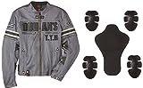 DUHAN(ドゥーハン) バイクジャケット ライディングジャケット Lサイズ グレー 3シーズン 春夏秋用 905416